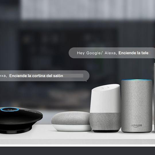 mando a distancia compatible con google home y alexa