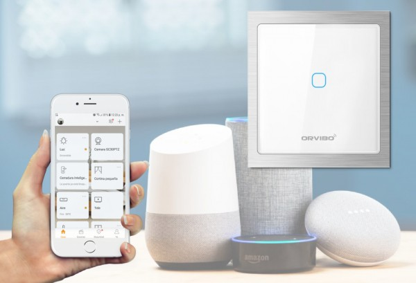 Interruptor wifi compatible con Alexa y google home